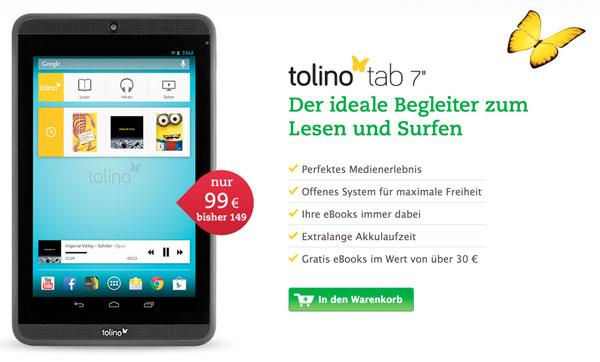 Tolino Tab Angebot