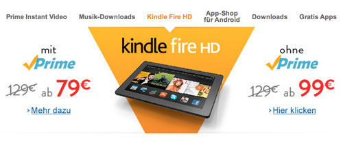 Kindle Fire HD Angebot