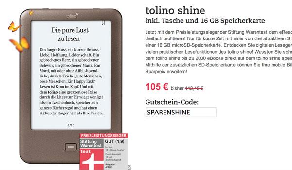 Tolino Shine Bundle August